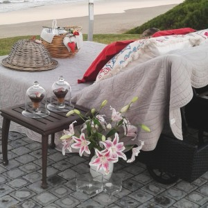 African Oceans - beach setup picnic bed view
